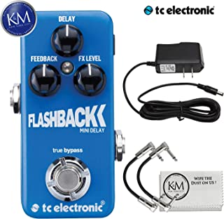 TC Electronic Flashback Mini Delay Pedal + 9V Power Supply + (2) Patch Cables + K&M Cloth