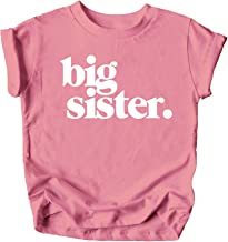 Threadrock Girls I/'m Going To Be A Big Sister Fitted T-shirt Announcment