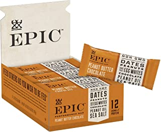 Epic Provisions EPIC Performance Bar Peanut Butter Chocolate, 16.83 Ounce, 9 Count (Pack of 1)