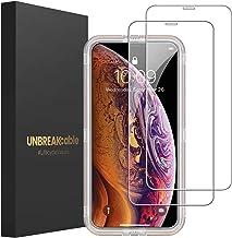 UNBREAKcable Panzerglas [2er Pack] Panzerglasfolie Kompatibel mit iPhone XS/X/10 (5.8 Zoll), 2.5D Double Defense Series Displayschutzfolie, Kratzfest, Anti-Fingerprint, blasenfrei und kofferfreundlich