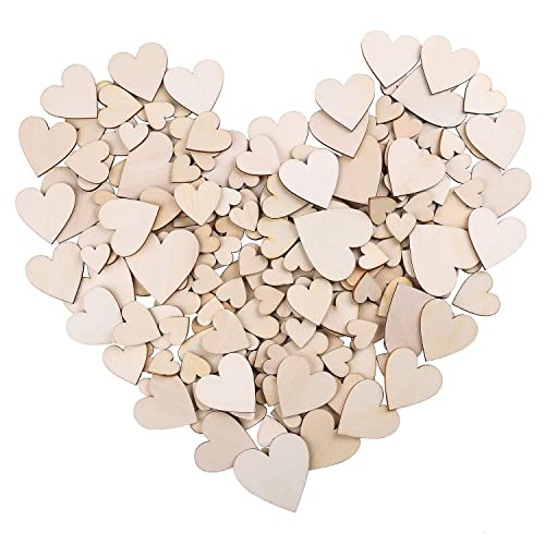 92bca2ef5d83 Whaline 210 piezas en blanco corazón de madera adornos de boda para fiesta