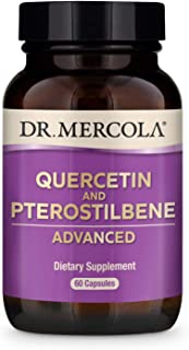 Dr. Mercola Quercetin & Pterostilbene Advanced Dietary Supplement, 30 Servings (60 Capsules), Supports Lung and Immune Hea...