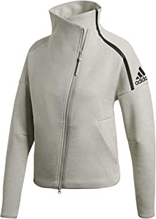 adidas Damen Z.N.E. Heartracer Cover Up Trainingsjacke Jacke, grau/Silber, M-38/40