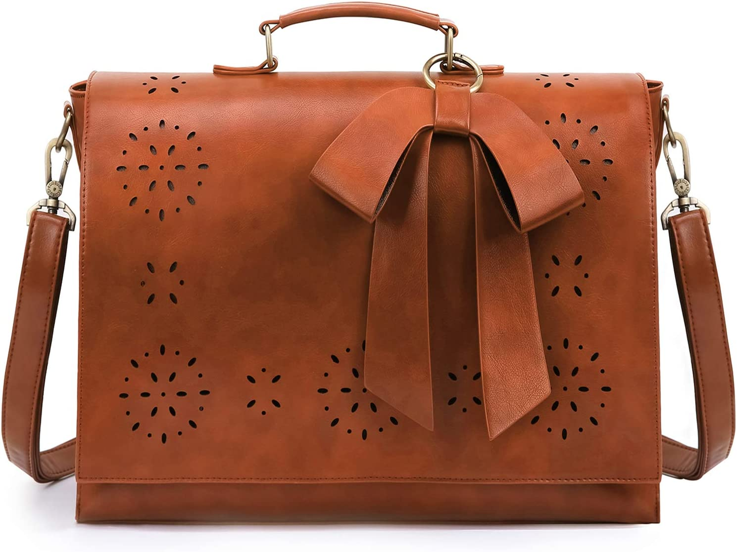 ECOSUSI Women's Briefcase Vegan supreme Leather At the price of surprise for inch Bag Laptop 15.6