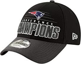 New Era New England Patriots 2018 AFC Champions Trophy Collection Locker Room 9FORTY Adjustable Hat - Black/Graphite.