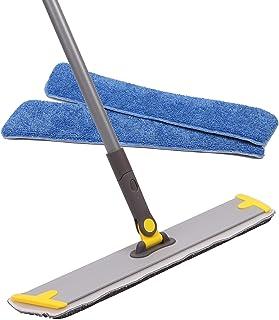 "TreeLen 18"" Microfiber Mop,Hardwood Laminate Floor Flat Mop,3 Refillable Wet Microfiber Mop Pad, Hardwood Floor,Stone,Tile & Laminate Floor Cleaner (Yellow)"