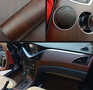 Moyishi Wood Grain Vinyl Sticker Decal Roll Car Interior Home Office Furniture DIY Film Wrap 30cmx100cm (Ebony Wood)
