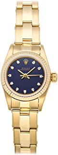 Oyster Perpetual Mechanical (Automatic) Blue Dial Womens Watch 67198 (Certified Pre-Owned)
