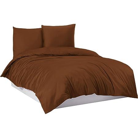 Bettwäsche 135x200 cm Bettgarnitur Bettbezug 100/% Baumwolle Kissen 2 tlg RITA