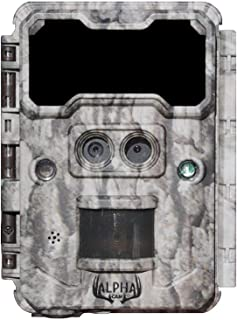 Alpha Cam No Glow Dual Lens Hunting Trail Camera 30MP 1080p 30fps IP67 Waterproof Scouting Cam with Ultra Fast Trigger Speed and Recovery Rate 2.4