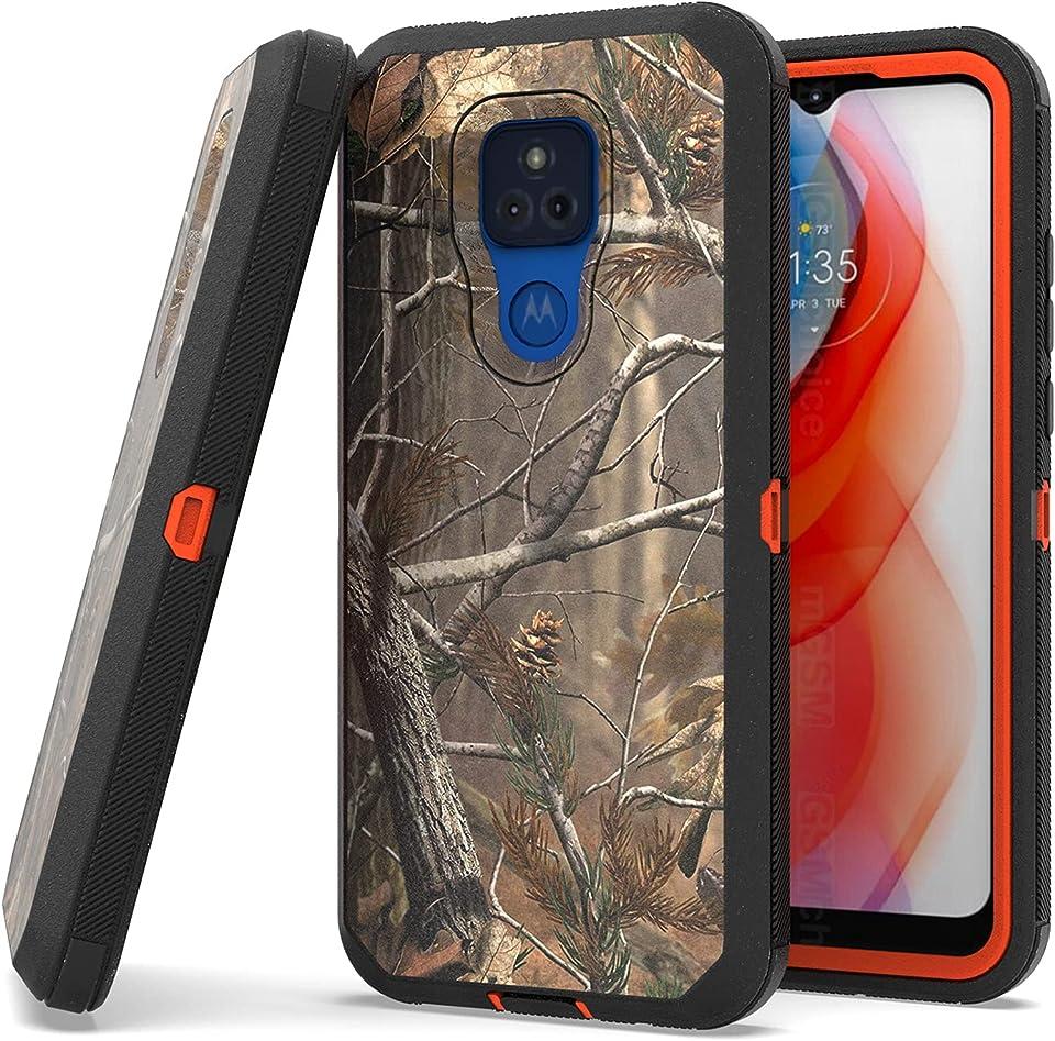 CoverON Rugged Designed for Motorola Moto G Play 2021 Case, Heavy Duty Military Grade Phone Cover - Camo