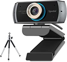 Webcam with Tripod,Live Streaming Webcam 1080P, HD Webcam Computer Laptop Web Camera for..