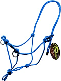 Southwestern Equine Side Pull Rope Halters with Nickle Plated Rings