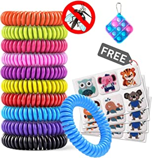 ELECTRFIRE Mosquito Bracelet 10 Pack with 4 Patches, Toys Waterproof Bug Repellent Wrist Bands, Fit for Kids & Adults, Nat...