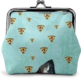 mit Schl/üsselring und Rei/ßverschluss und lustigen Emoji-Motiven Mehrfarbig Better Have My Pizza Fringoo kleine Brieftasche super geeignet f/ür M/ünzen