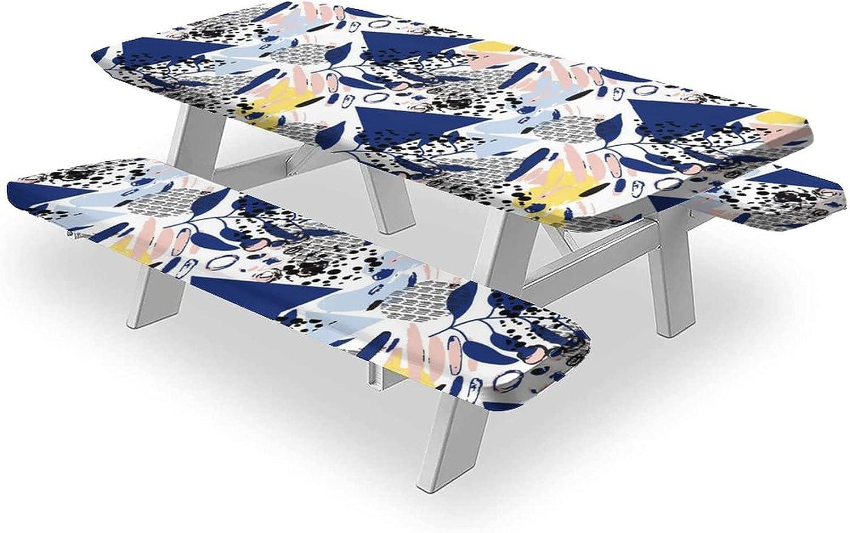 1 year warranty Memphis Tablecloths 3-Piece Outstanding Set W Waterproof Table Cloth