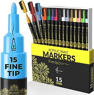 Acryl verf pennen voor rotsschilderen, steen, keramiek, glas, hout, mokken, metaal, stof, canvas DIY ambachtelijke benodig...