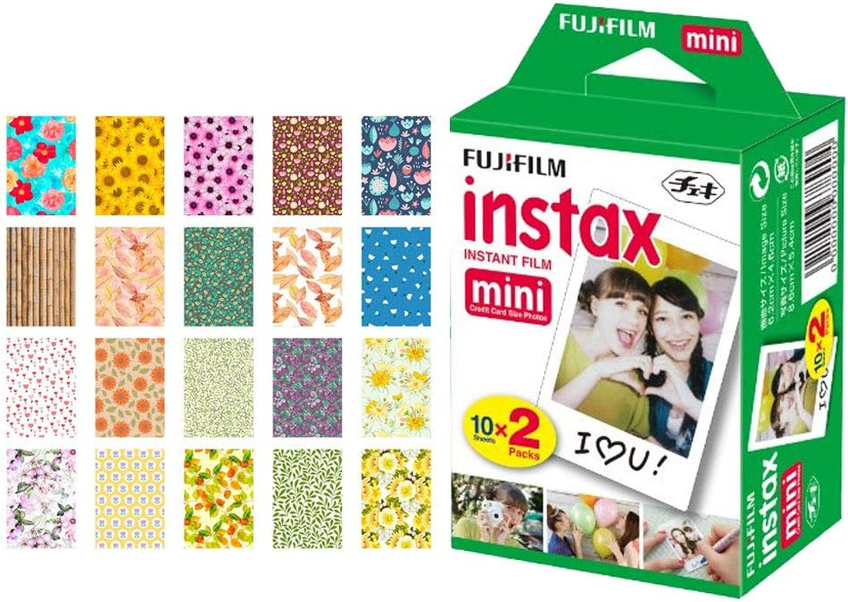 Now free shipping Fujifilm instax Mini Instant Film 20 Exposures New product + Sticker Fr