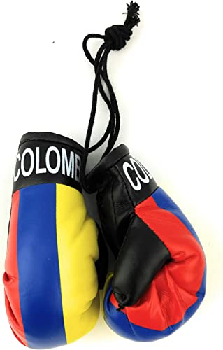 Red Hat Ent Hanging Car Mirror Mini Boxing Gloves (Colombia)
