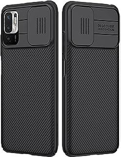 شاومى ريدمى نوت 10 5 جى (Xiaomi Redmi Note 10 5G) جراب نيلكين حماية ضد الصدمات مع غطاء الكاميرا - اسود