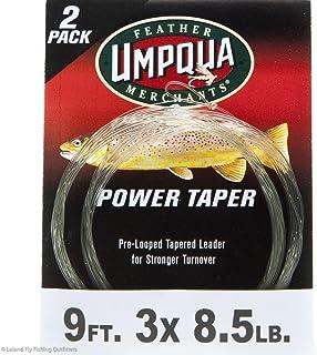Umpqua Alaska Power Taper Leaders, 9' 3X, 2 Pack