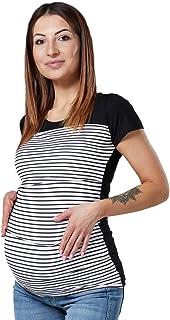 HAPPY MAMA Femme Top Maternit/é Allaitement Double Couches Bloc de Couleur 369p