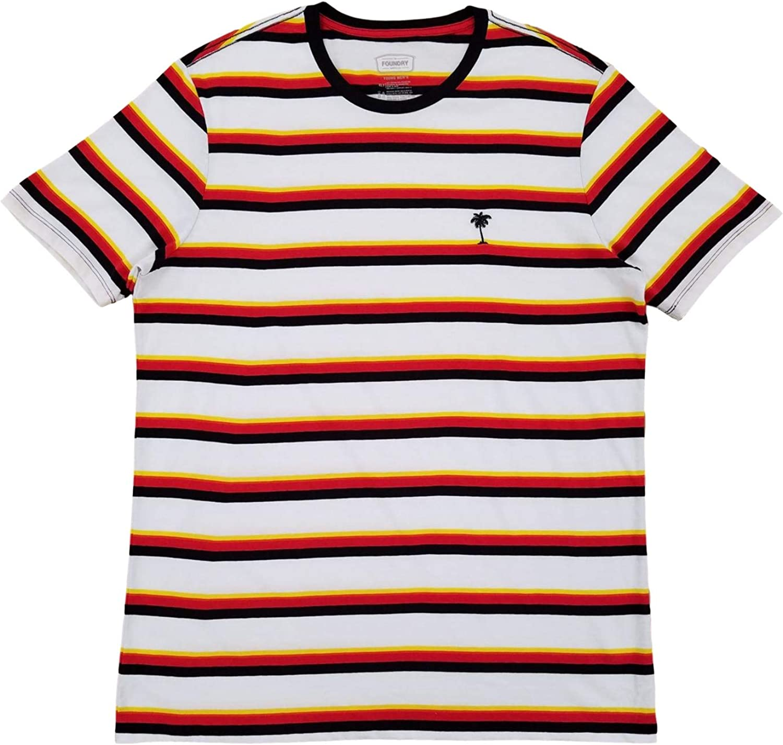 The Foundry Mens Big & Tall Stripe Palm Short Sleeve T-Shirt