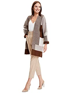 DeFacto Color-Block Long Sleeves Open Front Cardigan for Women