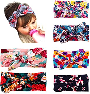 Baby Headbands Turban Knotted,Newborn Infant Toddler Hairbands and Bows Child Hair Accessories
