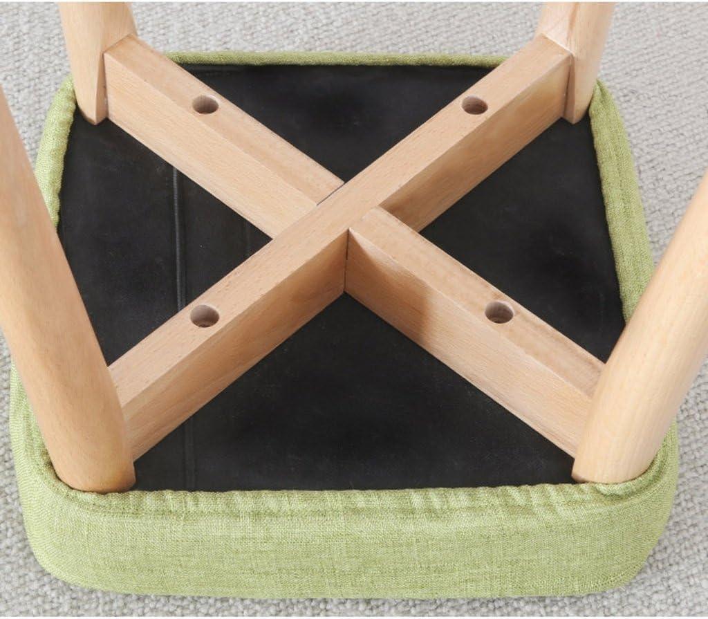 SLL- Tabouret de salle à manger en bois massif tabouret de cuisine tabouret créatif Fauteuils et Chaises (Color : A) E