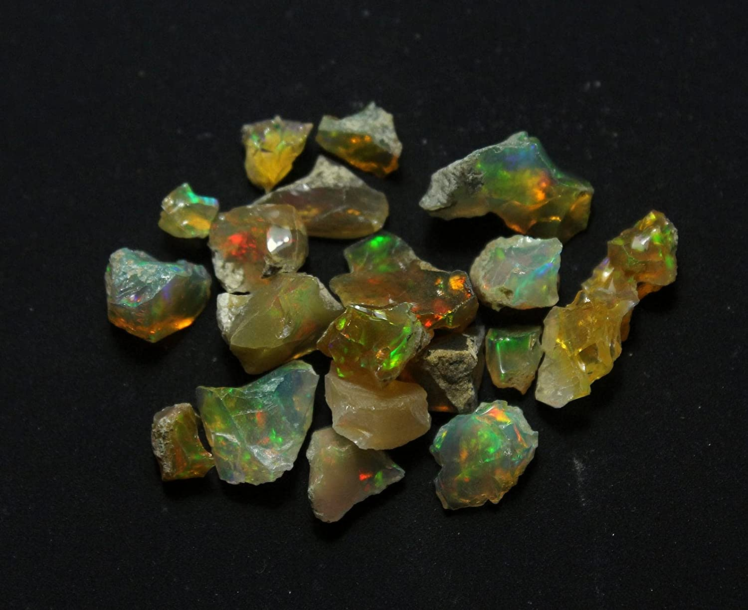 70Cts. Fire Play Omaha Mall Opal Free shipping / New Rough Gemstone Raw Natural Stone