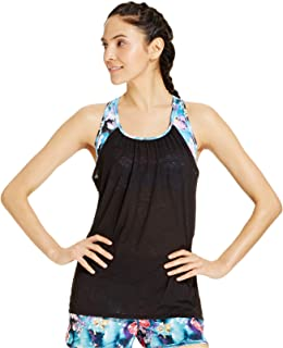 Sports Bra Layered-Look Tank Top Shirt