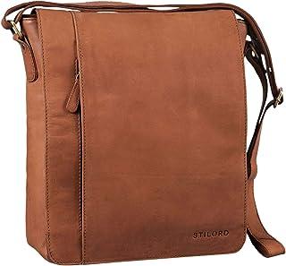 """STILORD Paul"""" Umhängetasche Herren Leder Hochformat Messenger Bag im Vintage Design Ledertasche für 13,3 Zoll MacBook iPad DIN A4 Herrentasche Echtleder"""