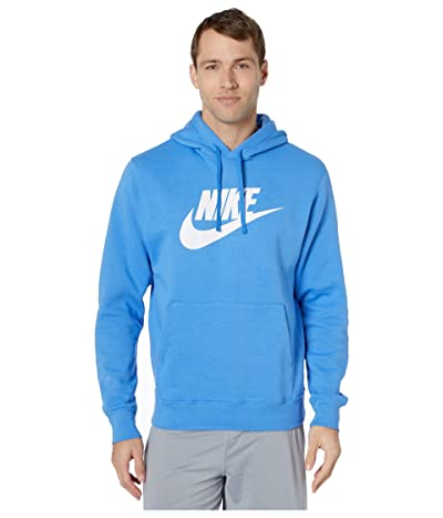 Nike NSW Club Hoodie Pullover Graphics (Pacific Blue/Pacific Blue) Men