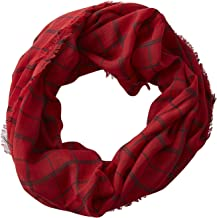 Tickled Pink Women's Game Day Sports Team Apparel Scarf or Wrap, Plaid Infinity