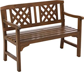 Gardeon Wooden Garden Bench Seat Outdoor Chair Patio Furniture Timber Lounge