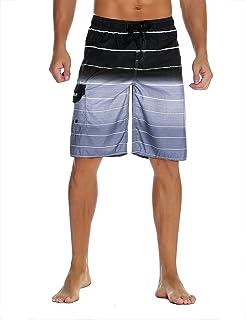 2137f0c7b53 Nonwe Men's Beachwear Summer Holiday Swim Trunks Quick Dry Striped