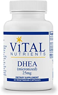 Vital Nutrients - DHEA (Micronized) - Supports Metabolism, Hormone Levels and Energy Levels - 60 Vegetarian Capsules per B...