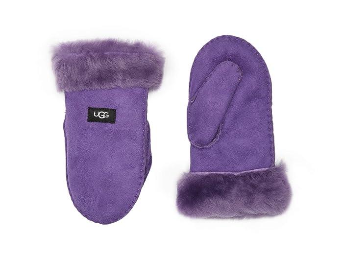 UGG Kids  Water Resistant Sheepskin Mitten (Toddler/Little Kids) (Violet Bloom) Over-Mits Gloves