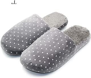 Home Slippers Men Anti-Slip Warm Bedroom Winter Slippers Cartoon Stars Indoor Slippers Cotton Floor Home Shoes 319B