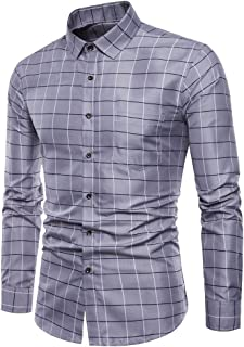 Button T Shirt Mens Blouse Tops Long Sleeve Oxford Formal Casual Suits Slim Fit Tee Shirts