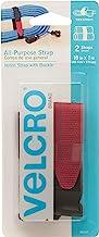 """VELCRO Brand - All Purpose Straps - 18"""" x 1"""", 2 Count, Black"""