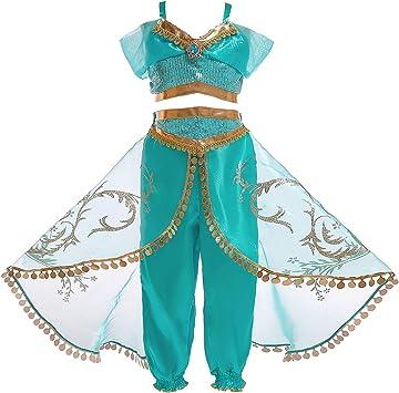 Prinzessin Cosplay Kinder Mädchen  Kostüm Sommer Party Outfit Set