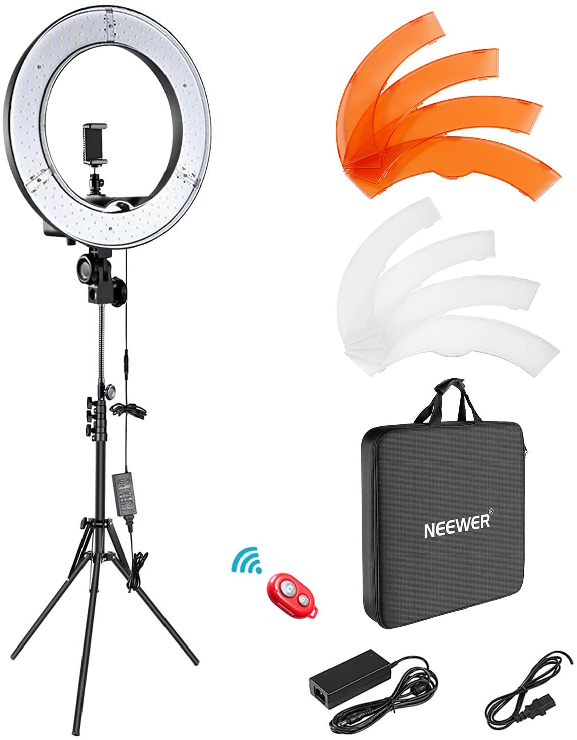 Neewer Ring Light Kit with Dimmable LED Ring Light, Light Stand and Carrying Bag for Camera
