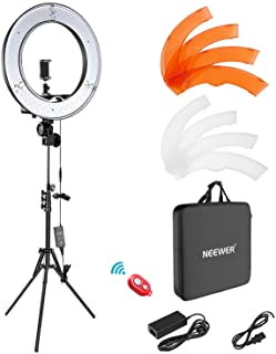 Neewer Camera Photo Video Light Kit: 18 Inches/48 Centimeters Outer 55W 5500K Dimmable LED Ring Light, Light Stand, Receiv...