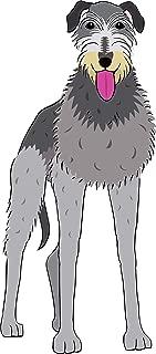 Simple Dog Breed Line Drawings Animal Cartoon Vinyl Sticker, Schnauzer