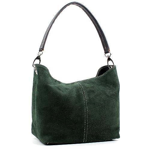 ec5380b2dc Aossta Ladies Real Italian Suede Leather Small Shoulder Handbag Tote Bag