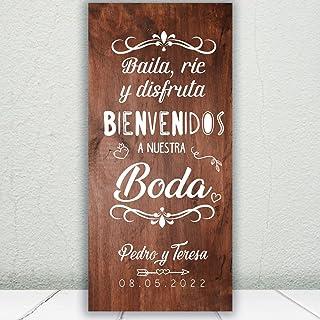 comprar comparacion Decoración Boda   Cartel Boda Baila & Ríe   70cm x 150cm