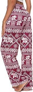 Women's Loose Baggy Yoga Long Pants Floral Printed Trousers Flowy Beach Pants