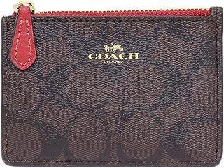 [コーチ] COACH 財布 (コインケース) F16107 ブラウン×ルビー IMOG7 シグネチャー PVC ミニ キーリング コインケース レディース [アウトレット品] [ブランド] [並行輸入品]